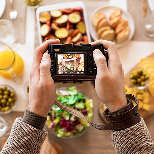 posisi foto makanan