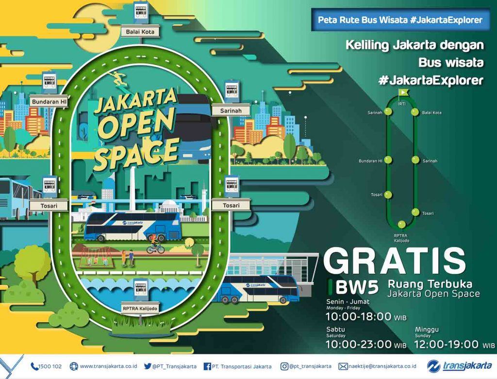 rute bus tingkat Jakarta Explorer