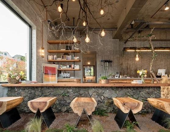 desain minimalis material kayu